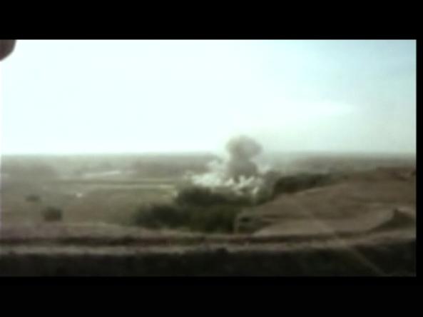 heavy air strikes on compound