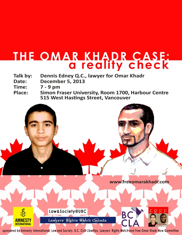 Poster Omar Khadr Case a Reality Check