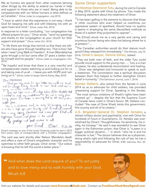 Omar Khadr l Christian Handout 2014-2