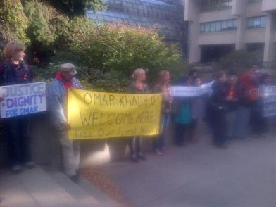 Support for Omar on court day