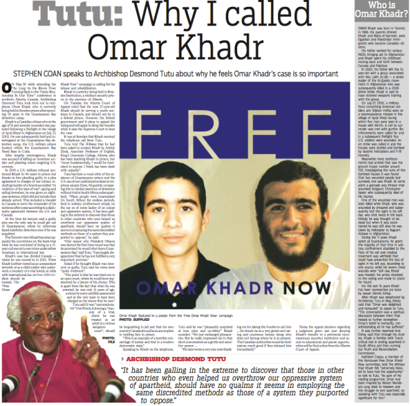 Witness - Why I called Omar Khadr