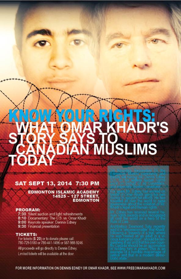 Poster Omar Khadr Edmonton Event