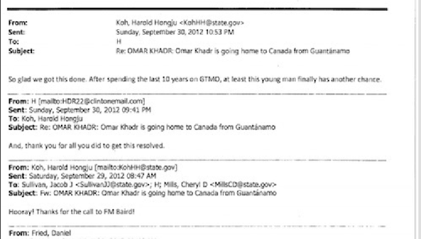 2012 09 Hillary Clinton on Omar Khadr
