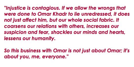 Yann Martel quote Omar Khadr